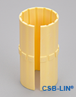 Plastic linear bearing liners