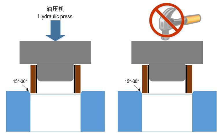 FWB纤维缠绕轴承安装方式